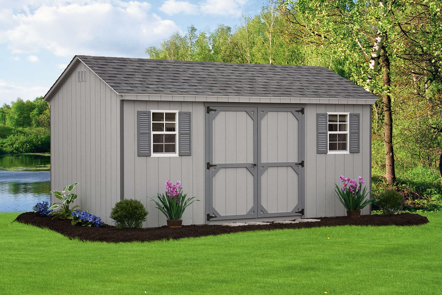 Long island sheds custom built sheds new york shed builder for Shed styles